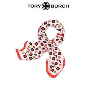 Tory Burch Milano Square Silk Neckerchief Scarf